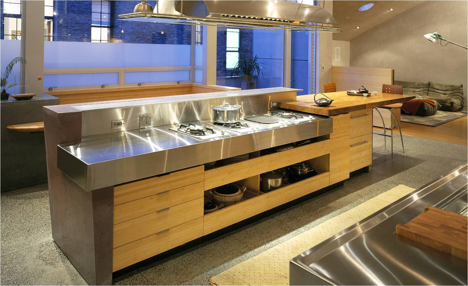 flat grain bamboo kitchen