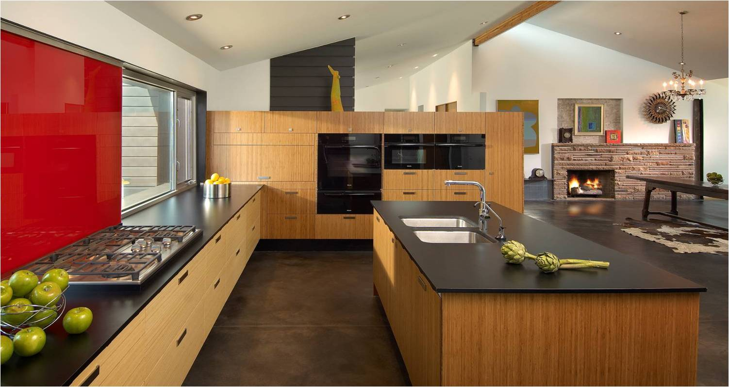Edge grain bamboo kitchen