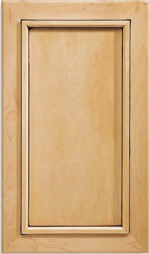 Inset Calistoga Maple Cabinet Door