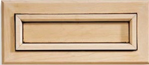 Calistoga Maple Recessed Panel Drawer Front