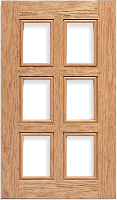 Cascade AM-6 French Lite Red Oak Door