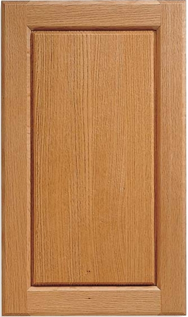 Century V-Panel Straight Grain Red Oak Door