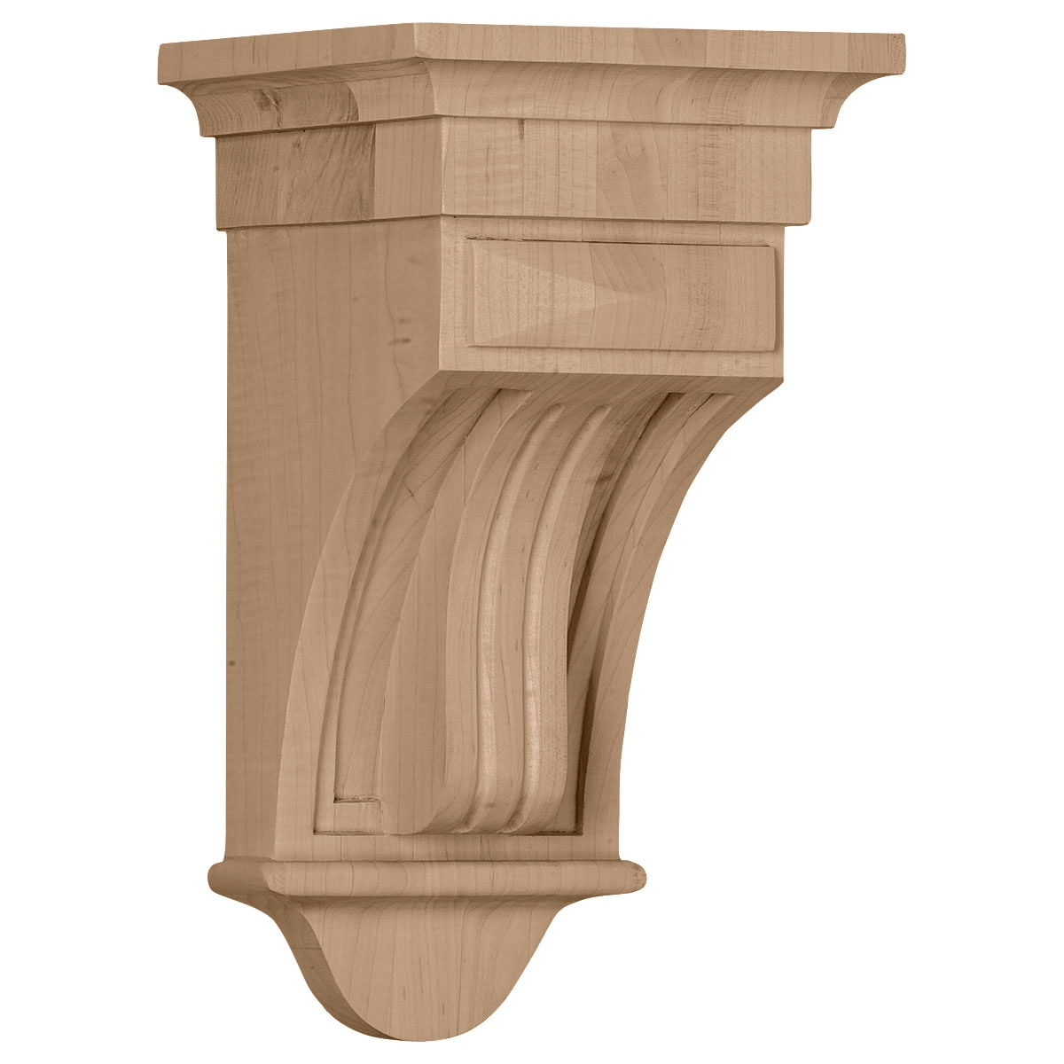 COR05X05X10RA Medium Raised Fluting Corbel