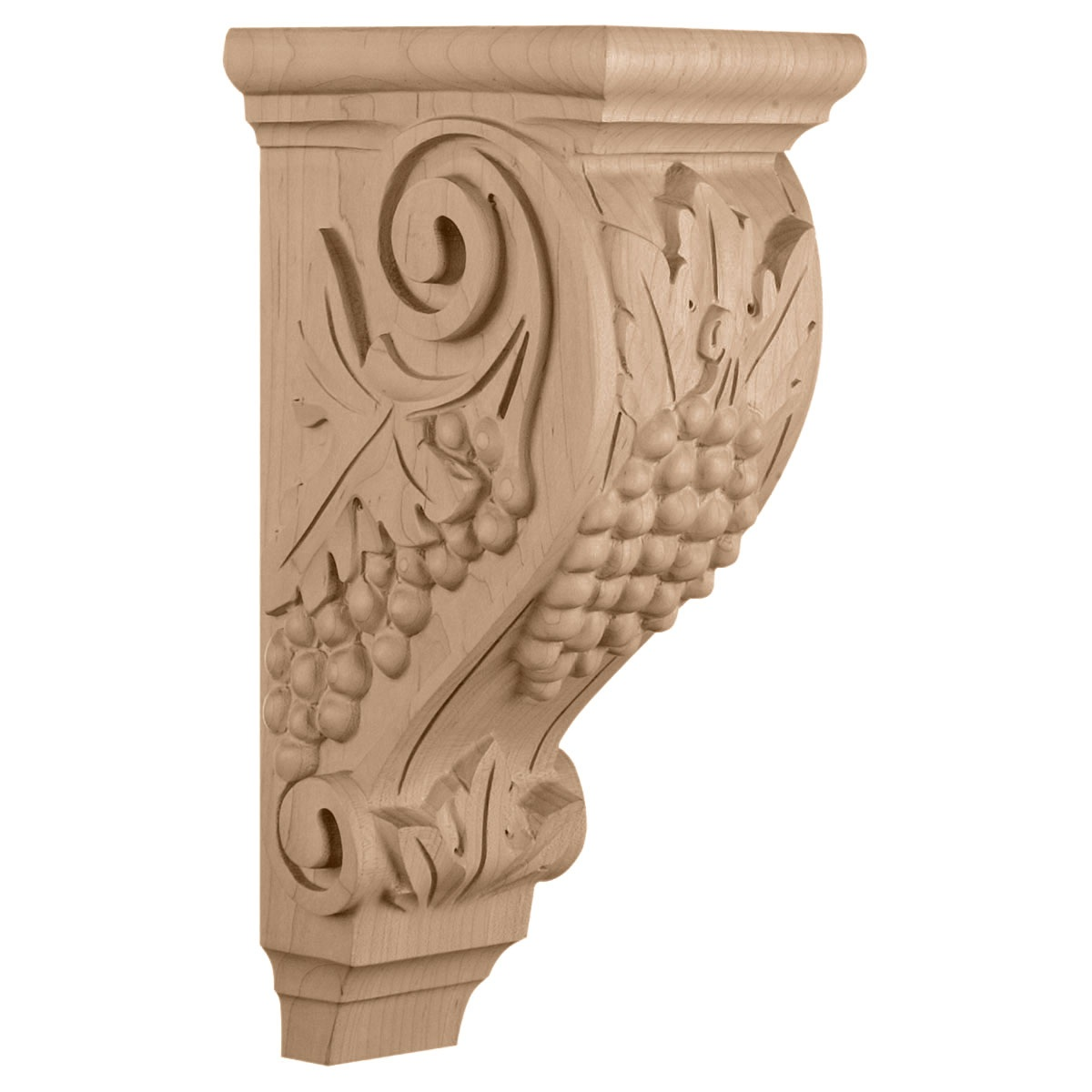 "CORGR4 Large Grape Corbel 5""W 7 1/2""D 14""H"