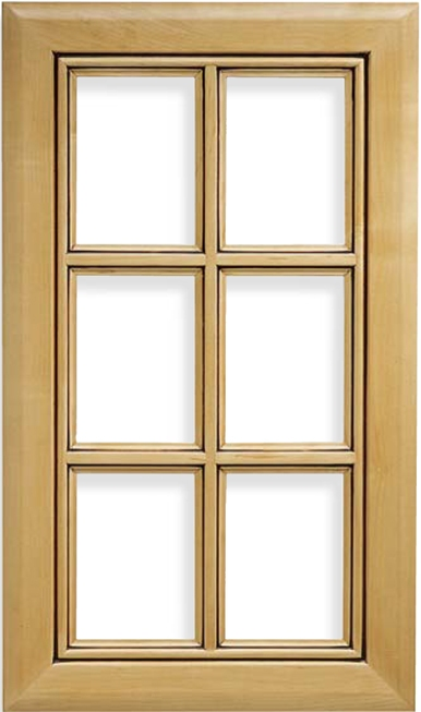 Malibu French Lite Maple Door