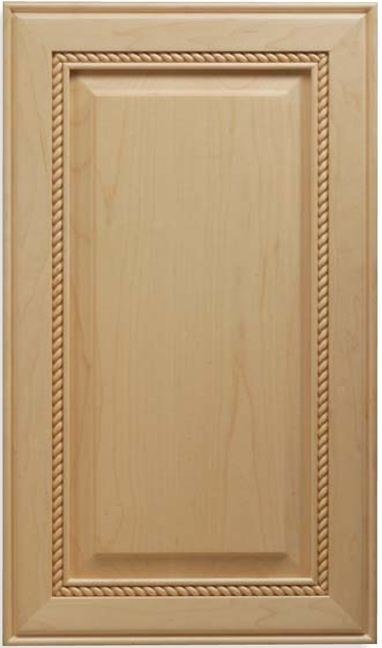 Solid Wood Nantucket Maple Cabinet Door