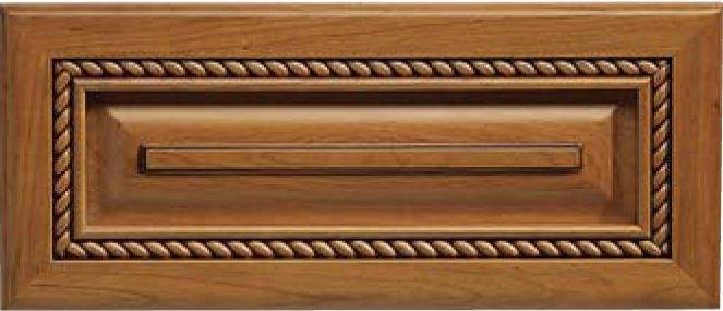 Nantucket Cherry Raised Panel Drawer Front