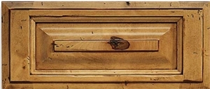 Revere S-Panel Rustic Maple Drawer Front