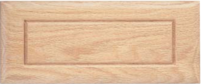 Routed DB-1 Red Oak Drawer Front