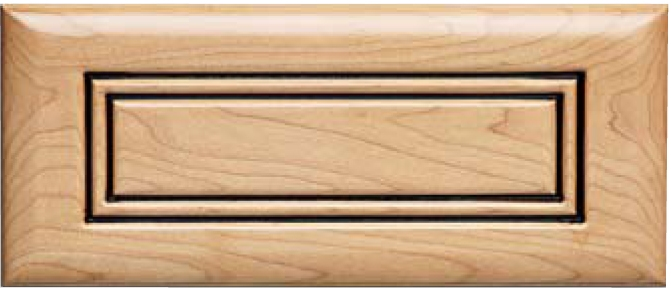 Routed DB-2 Maple Drawer Front