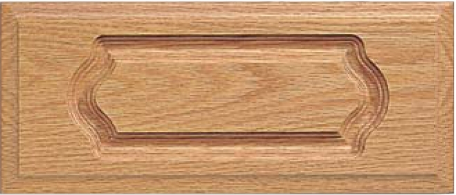 Routed DC-4 Red Oak Drawer Front