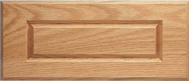 Routed DV-1 Red Oak Drawer Front