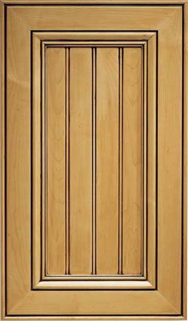 Beaded Inset San Fernando Maple Cabinet Door