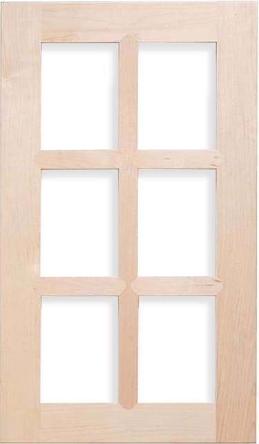 Shaker French Lite Maple Door