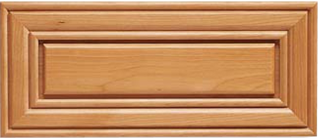 Sheffield 5 pc. L-Panel Red Birch R-3 Edge Drawer Front