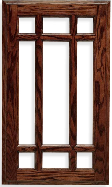 Sierra French Lite Red Oak Door