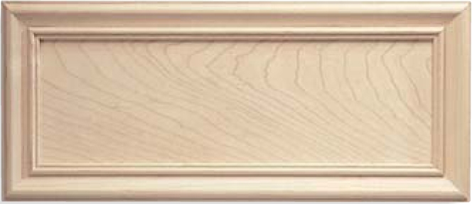 Solid Maple Recessed Panel Drawer Front