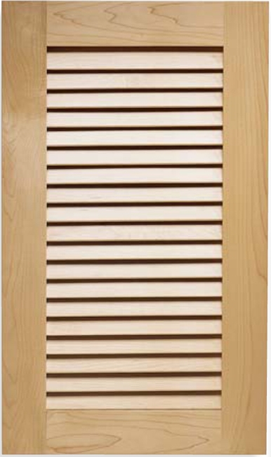True Open Louvered Style Cabinet Door