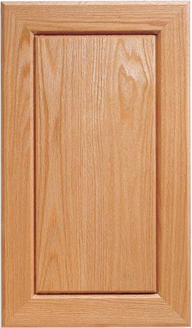 Vail V-Panel Red Oak Door