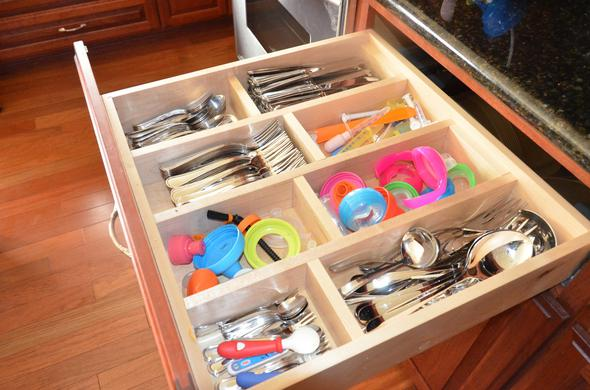 Custom silverware drawer