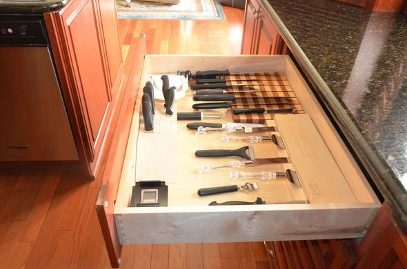 custom knife drawer