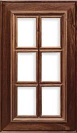 Napa AM-1 French Lite Walnut R-3 Edge Door