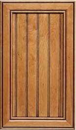 Normandy Cherry Beaded F-Panel R-3 Edge Door